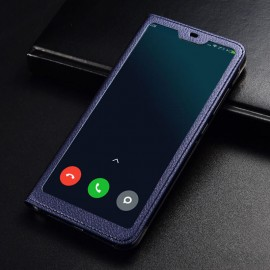 Etuis Xiaomi MI 8 Lite Portefeuille Vision Bleu