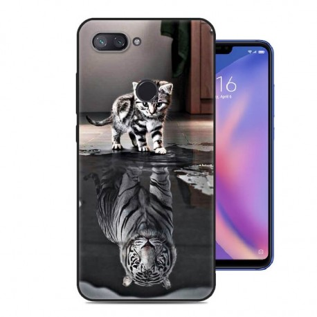 Coque Silicone Xiaomi MI 8 Lite Chat Mirroir