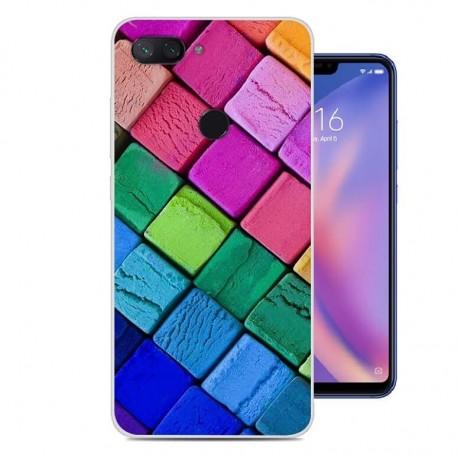 Coque Silicone Xiaomi MI 8 Lite Cubes