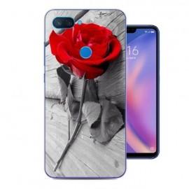 Coque Silicone Xiaomi MI 8 Lite Rose