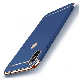 Coque Xiaomi Redmi Note 6 Pro Rigide Chromée Bleue