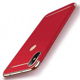 Coque Xiaomi Redmi Note 6 Pro Rigide Chromée Rouge