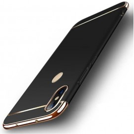 Coque Xiaomi Redmi Note 6 Pro Rigide Chromée Noir