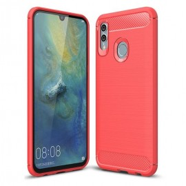 Coque Silicone Honor 10 Lite 3D Carbone Rouge
