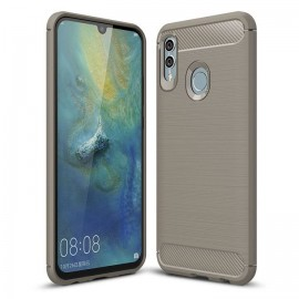 Coque Silicone Honor 10 Lite 3D Carbone Grise