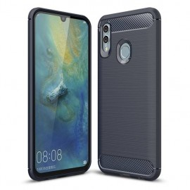 Coque Silicone Honor 10 Lite 3D Carbone Bleue