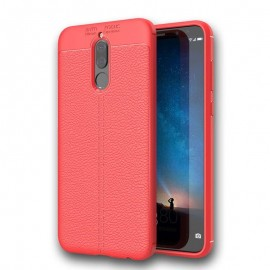 Coque Silicone Huawei Mate 10 Lite Cuir 3D Rouge