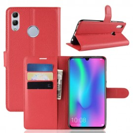 Etuis Portefeuille Honor 10 Lite Simili Cuir Rouge