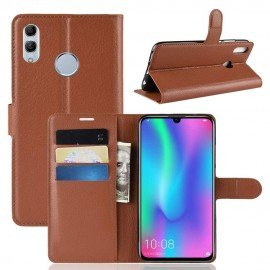 Etuis Portefeuille Honor 10 Lite Simili Cuir Marron