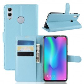 Etuis Portefeuille Honor 10 Lite Simili Cuir Bleue