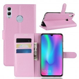 Etuis Portefeuille Honor 10 Lite Simili Cuir Rose