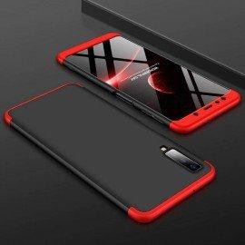 Coque 360 Samsung Galaxy A7 2018 Noir et Rouge