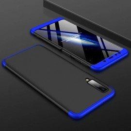 Coque 360 Samsung Galaxy A7 2018 Noir et Bleu