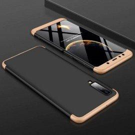 Coque 360 Samsung Galaxy A7 2018 Noir et Or