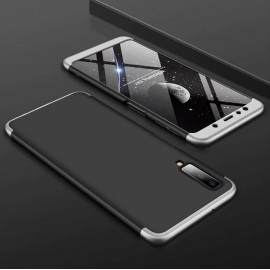 Coque 360 Samsung Galaxy A7 2018 Noir et Gris