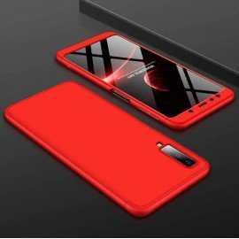 Coque 360 Samsung Galaxy A7 2018 Rouge