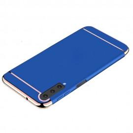 Coque Samsung Galaxy A7 2018 Rigide Chromée Bleue
