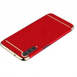 Coque Samsung Galaxy A7 2018 Rigide Chromée Rouge