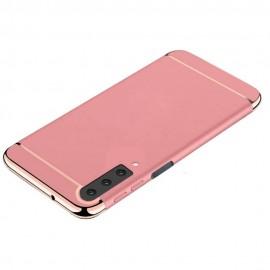 Coque Samsung Galaxy A7 2018 Rigide Chromée Rose