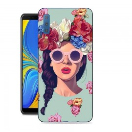 Coque Silicone Samsung Galaxy A7 2018 Fille Hipster