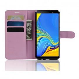 Etuis Portefeuille Samsung Galaxy A7 2018 Simili Cuir Rose