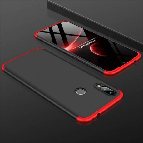 Coque 360 Xiaomi Redmi Note 7 Noir et Rouge