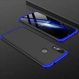 Coque 360 Xiaomi Redmi Note 7 Noir et Bleue
