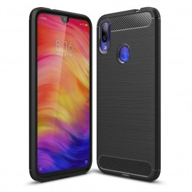 Coque Silicone Xiaomi Redmi Note 7 Brossé Noir