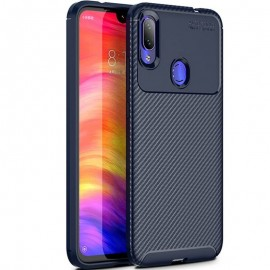 Coque Xiaomi Redmi note 7 Carbone TPU Bleue