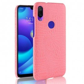 Coque Xiaomi Redmi Note 7 Croco Cuir Rose