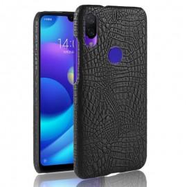 Coque Xiaomi Redmi Note 7 Croco Cuir Noire