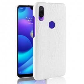 Coque Xiaomi Redmi Note 7 Croco Cuir Blanche