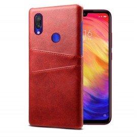 Coque Xiaomi Redmi Note 7 Cuir Rouge Imix