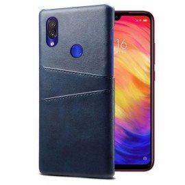 Coque Xiaomi Redmi Note 7 Cuir Bleu Imix