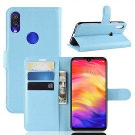 Etuis Portefeuille Xiaomi Redmi Note 7 Simili Cuir Bleu