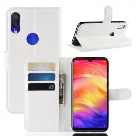 Etuis Portefeuille Xiaomi Redmi Note 7 Simili Cuir Blanc