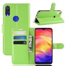 Etuis Portefeuille Xiaomi Redmi Note 7 Simili Cuir Vert
