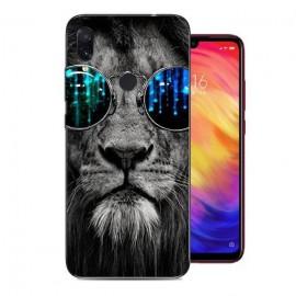 Coque Silicone Xiaomi Redmi Note 7 Lion avec lunette