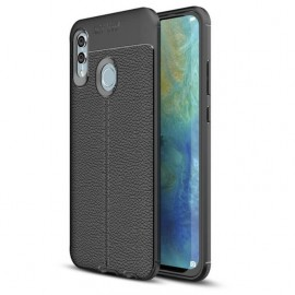 Coque Silicone Huawei P Smart 2019 Cuir 3D Noir