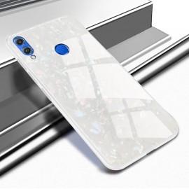 Coque Huawei P Smart 2019 Silicone Blanche et Verre Trempé