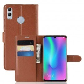Etuis Portefeuille Huawei P Smart 2019 Simili Cuir Marron