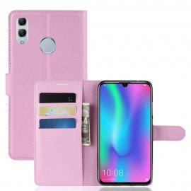 Etuis Portefeuille Huawei P Smart 2019 Simili Cuir Rose