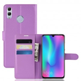 Etuis Portefeuille Huawei P Smart 2019 Simili Cuir Lila