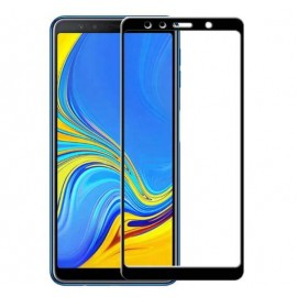 Verre trempé Samsung Galaxy A7 2018  Protecteur d'écran Noir