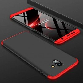 Coque Samsung Galaxy J6 Plus Noir et Rouge