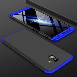 Coque 360 Samsung Galaxy J6 Plus Noir et Bleu