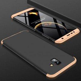 Coque 360 Samsung Galaxy J6 Plus Noir et Or
