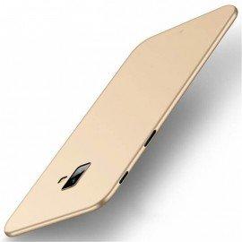Coque Silicone Samsung Galaxy J6 Plus Extra Fine Dorée
