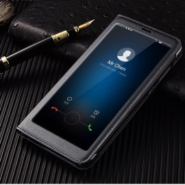 Etuis Portefeuille Huawei Mate 10 Lite Cover Vision Noir