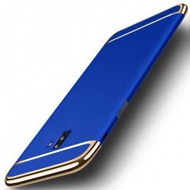 Coque Samsung Galaxy J6 Plus Rigide Chromée Bleue
